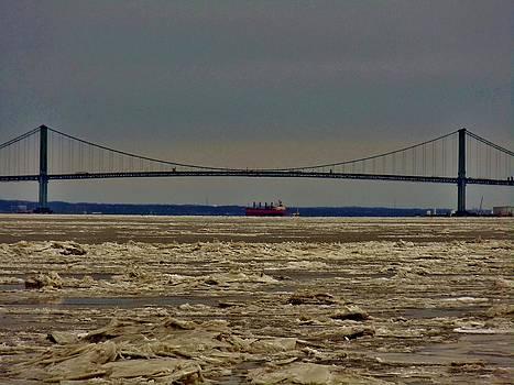 Frozen Delaware River by Ed Sweeney