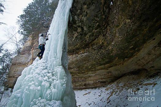 Frozen Falls Of Munising by Mike Wilkinson