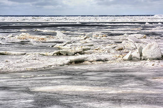 Frozen Lake Michigan by Jenny Ellen Photography
