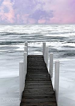 Frozen Pier by Rebecca Frank