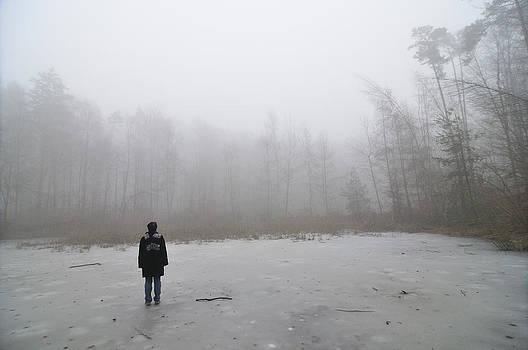 Frozen pond in winter by Matthias Hauser
