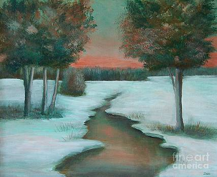 Frozen Pond by Jana Baker