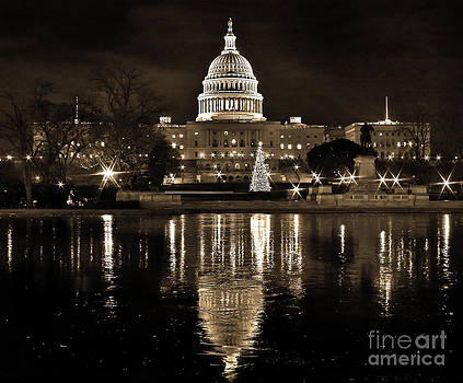 Frozen Reflections on Capitol Hill by SCB Captures