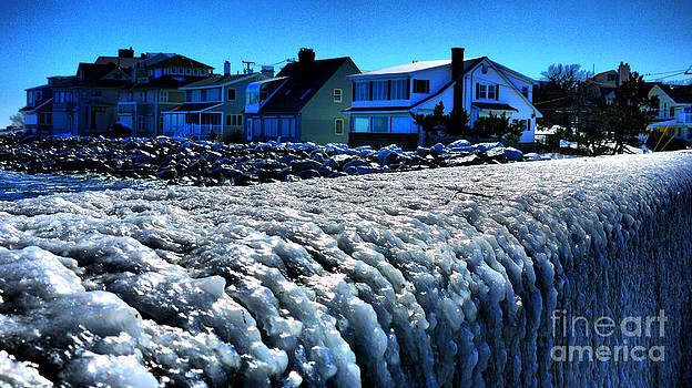 Frozen Sea Wall by Nancie DeMellia