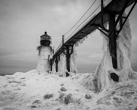 Frozen St. Joseph Lighthouse by Kimberly Kotzian