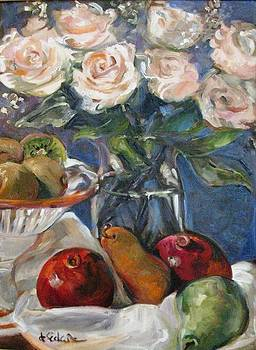 Fruit and Flowers by Dorothy Siclare