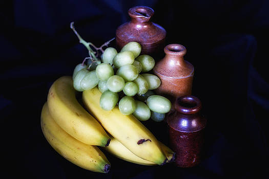 Fruit and Jars still life by Wayne Molyneux
