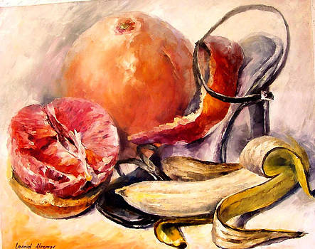 Fruit Cocktail - PALETTE KNIFE Oil Painting On Canvas By Leonid Afremov by Leonid Afremov