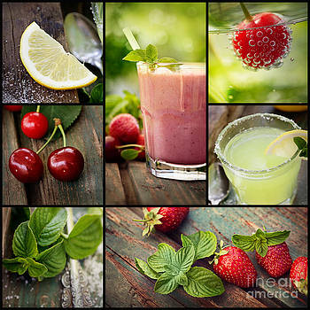 Mythja Photography - Fruit drinks collage