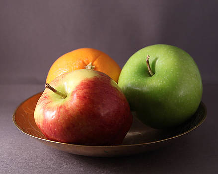Fruit in a Brass Bowl by Beth Johnston