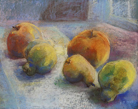 Fruit In Moonlight by Barbara Pommerenke