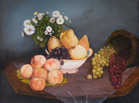 Fruit on Table by Virginia Butler