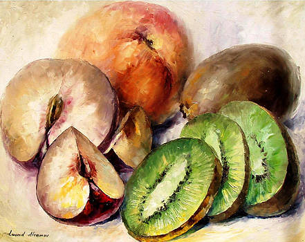 Fruits 2 - PALETTE KNIFE Oil Painting On Canvas By Leonid Afremov by Leonid Afremov