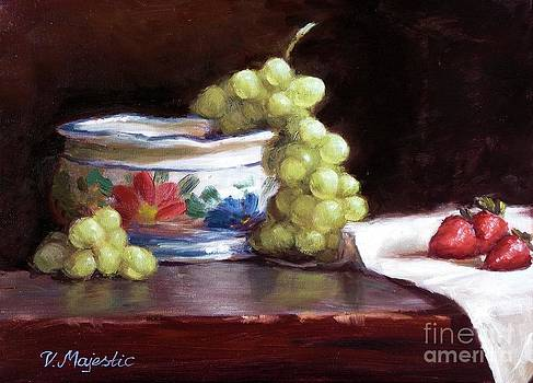 Fruits and Ceramic Bowl by Viktoria K Majestic