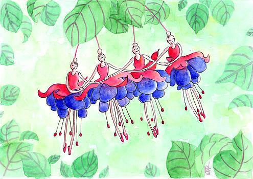 Fuchsia Pas De Quatre by Julie  Hutchinson