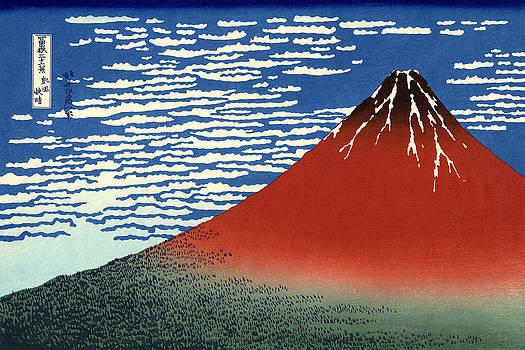 Fuji Mountains In Clear Weather by Kashushika Hokusai