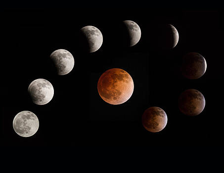 Full Eclipse Hunters Moon by Larry Pollock