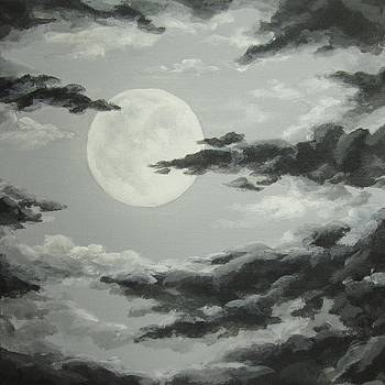 Full Moon in a Cloudy Sky by Anna Bronwyn Foley