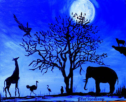 Full Moon in Africa by Pilar  Martinez-Byrne