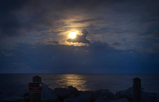 Full Moon Over Fort Fisher by Phil Mancuso