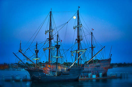 Full moon over our Spanish heritage by Stacey Sather
