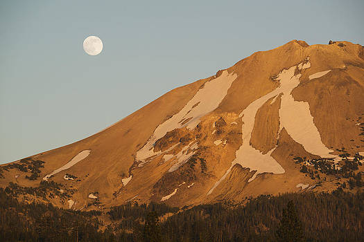Kevin Schafer - Full Moon Rising Mt Lassen California