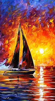 Full Speed - PALETTE KNIFE Oil Painting On Canvas By Leonid Afremov by Leonid Afremov