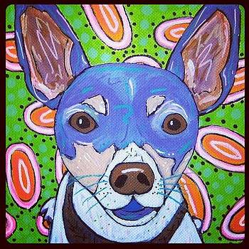 Funky Dog Portrait by Susan Sorrell