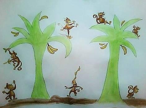 Funky Monkeys by Karen Jensen