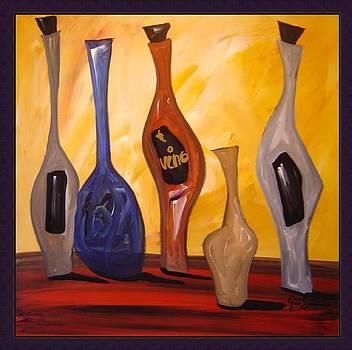 Funky Wine 11 by Gino Savarino
