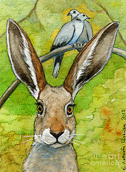 Funny bunnies-thoughts of love 836 by Svetlana Ledneva-Schukina