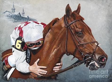 Funny Cide   the kiss by Pat DeLong