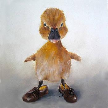 Funny Duck Art Print by Junko Van Norman