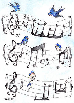 Fur Elise Song Birds by Theresa Stinnett