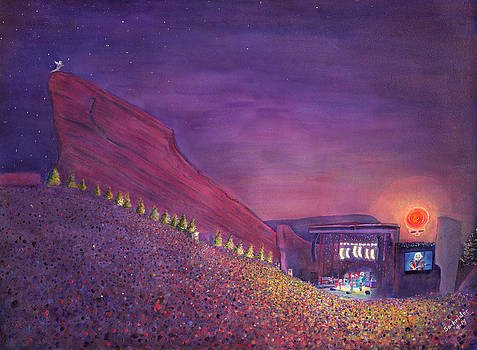 Furthur Red Rocks Equinox by David Sockrider