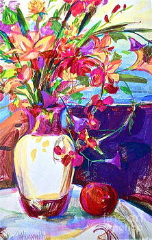 Fuschia Floral by Linda Zolten Wood