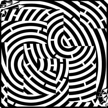 G-Mazed Maze by Yonatan Frimer Maze Artist