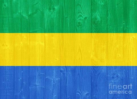Gabon flag by Luis Alvarenga