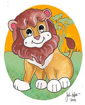 Gabriel The Lion by John Keaton