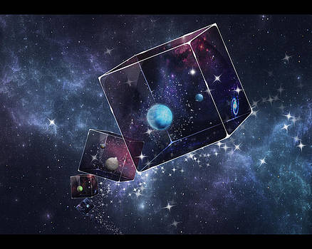 Galaxy Cube by Astrid Rieger