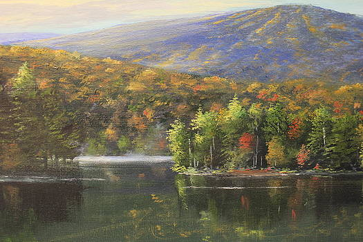 Gale meadow pond autumn by Ken Ahlering