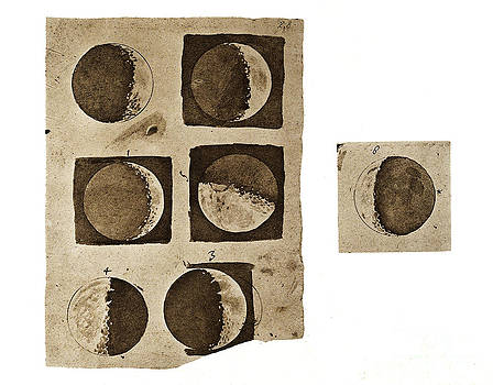 Wellcome Images - Galileos Five Diagrams Of Surface