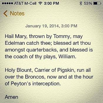 Game Time Prayer #gopats #tombrady by Diego De Leon