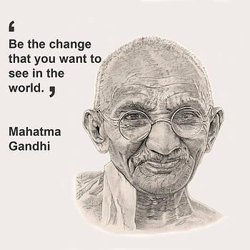 Gandhi Card by Chris Greenwood
