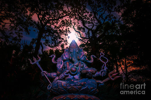 Ganesh and the Super moon by Shawn  Bowen