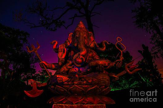 Ganesh at night by Shawn  Bowen