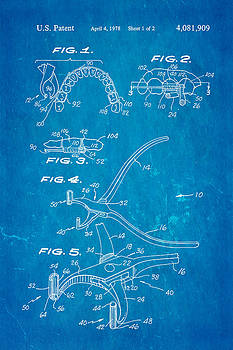 Ian Monk - Garcia Orthodontic Pliers Patent Art 1978 Blueprint