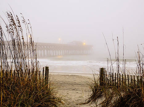 Terry Shoemaker - Garden City Pier in the Fog