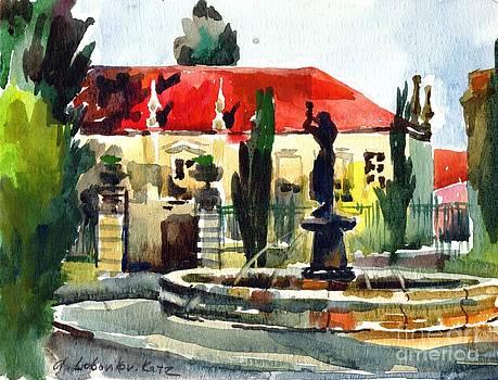 Garden Do Torel Fountain in Lisbon by Anna Lobovikov-Katz