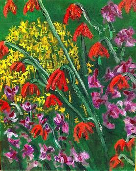 Garden Flowers  by Kendall Wishnick Adams